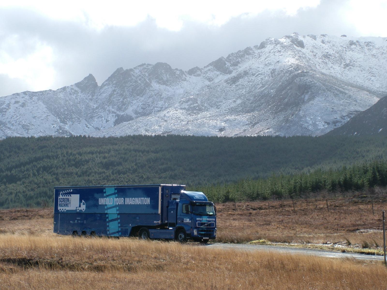 Screen Machine on the road